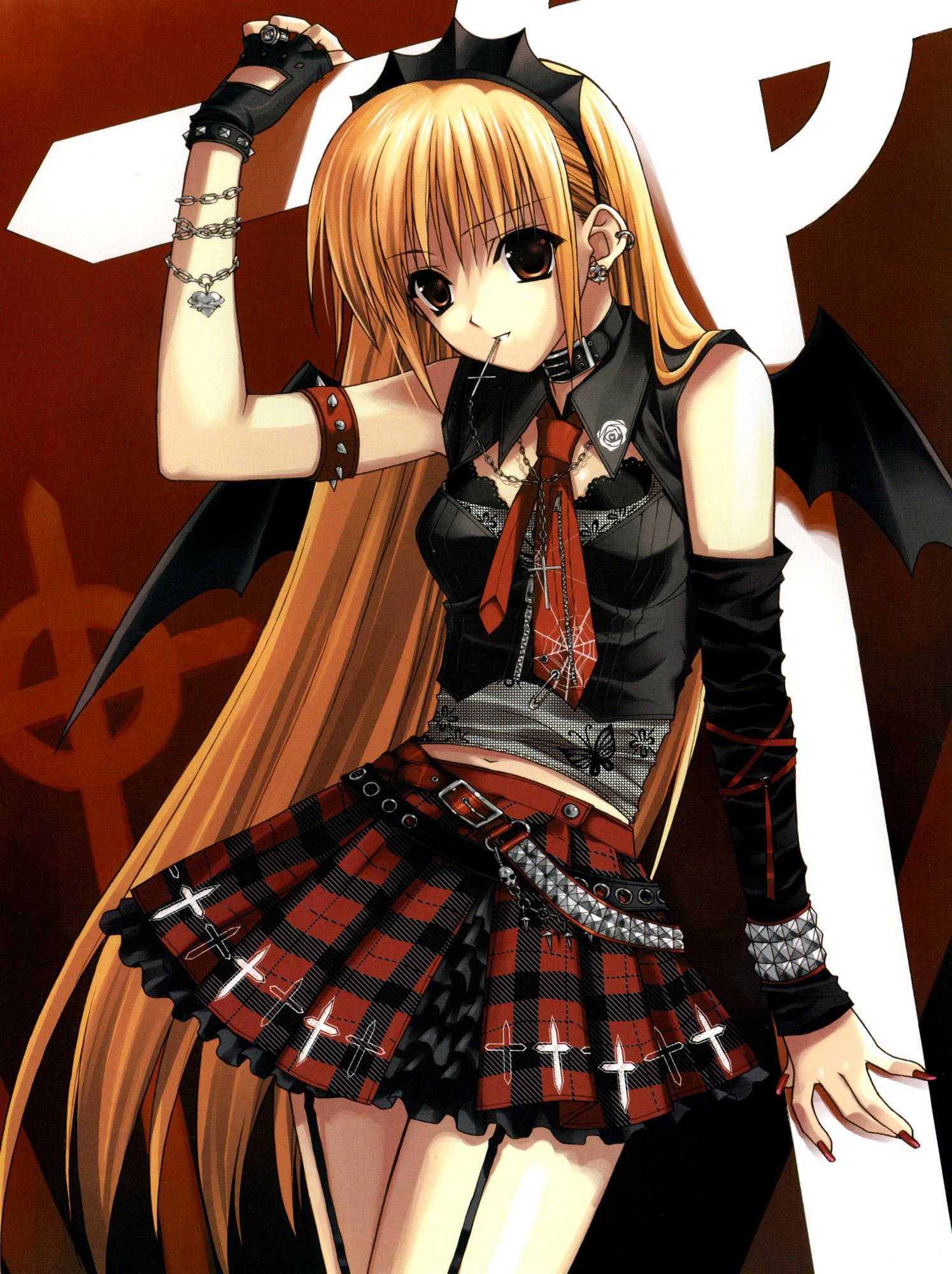 a15f47c06 Gothic devil girl illustration
