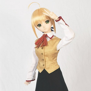 Saber with Homurabara Academy uniform set