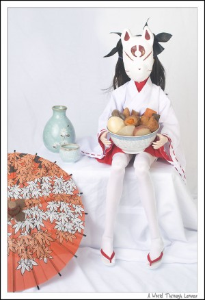 Rin with fox mask