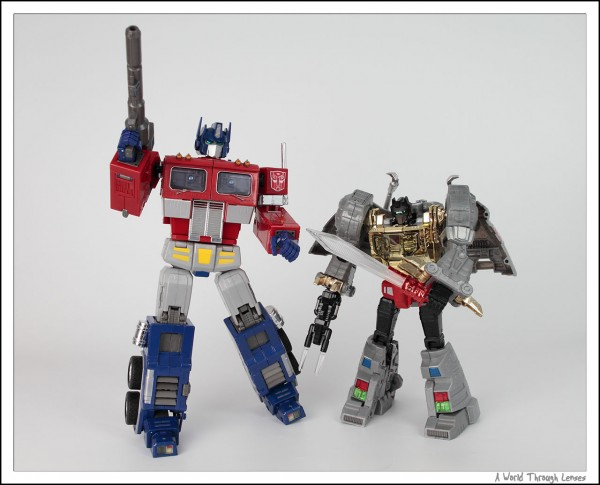 Grimlock and Optimus Prime