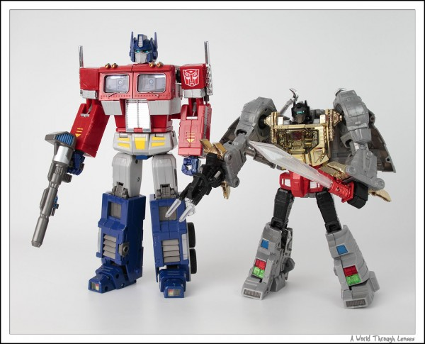 Grimlcok and Optimus Prime