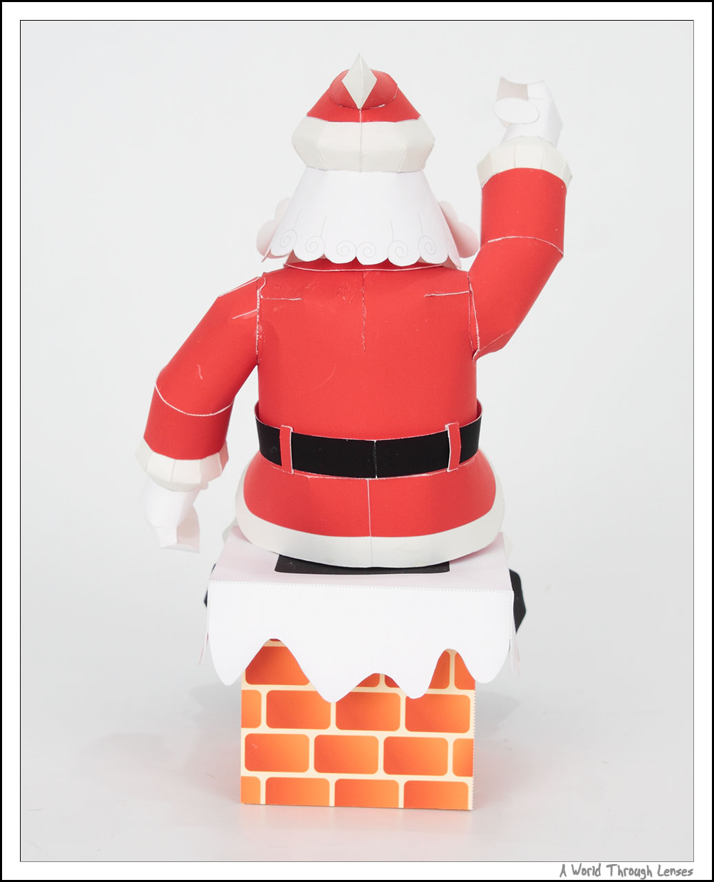 So here they are. First is the Santa Claus sitting on a chimney.